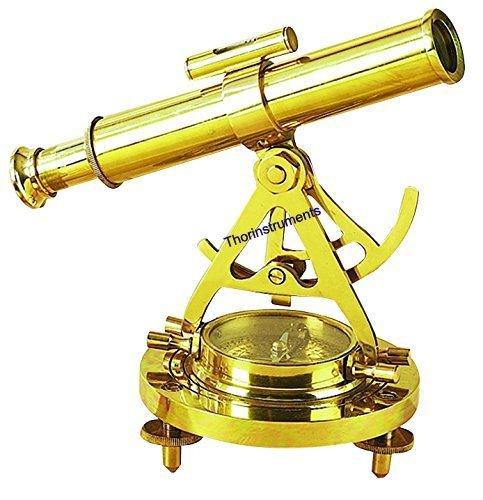 Thor Instruments.Co Alidade Telescoop Met Kompas Nautische Antiek Messing Marine Collectible Messing