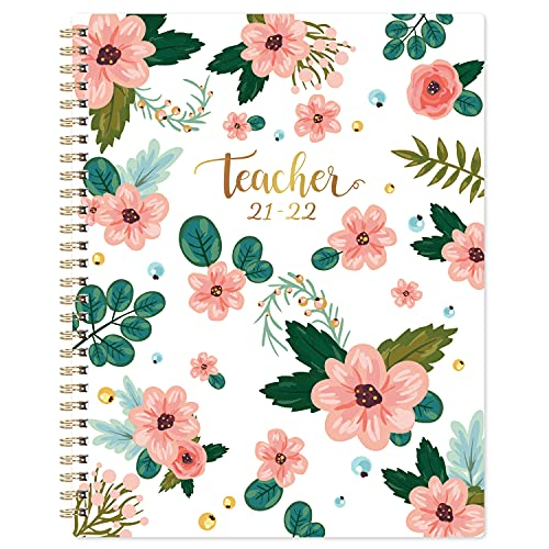 Teacher Planner 2021-2022 - Academic Lesson Planner from July 2021 - June 2022, 8'' x 10'', Lesson Plan Book, Weekly & Monthly Lesson Planner with Quotes, Monthly Calendars, Weekly Activity Schedule