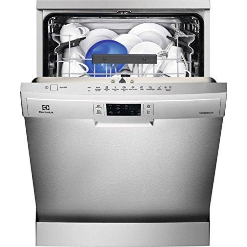 Electrolux ESF5535LOX lavavajilla Independiente 13 cubiertos A+++ - Lavavajillas (Independiente, Tamaño completo (60 cm), Acero inoxidable, Gris, Botones, LCD)