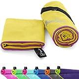 NirvanaShape ® Asciugamani in Microfibra | assorbenti, Leggeri, asciugano in fretta | Asciugamani da Bagno, Asciugamani da Viaggio, Spiaggia, Asciugamani Sportivi | Ideali per Fitness, Yoga, Sauna