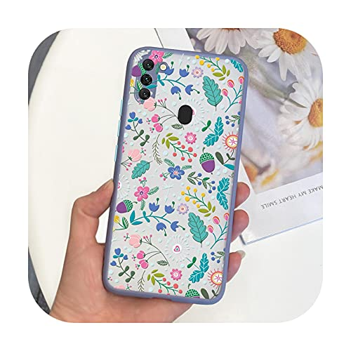 Funda para Samsung Galaxy M11 con diseño bonito y duro TPU para Samsung Galaxy A11 Samsung M11 A11 M115F A115F Contraportada Fundas-gray2025-Samsung M11 M115F