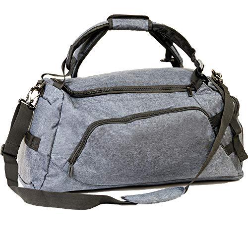 ROXEL ボストンバッグ スポーツバッグ ジムバッグ ダッフルバッグ 大容量 48L (グレー)