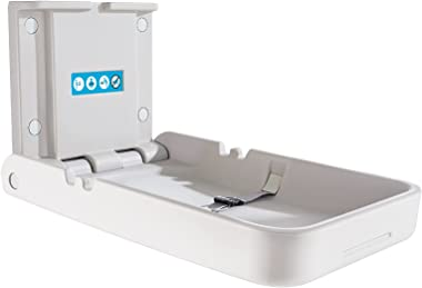 Vertical Baby Changing Station/Table and Sign, Wall Mounted Changing Table with Safety Strap, Diaper Changing Tables for Comm