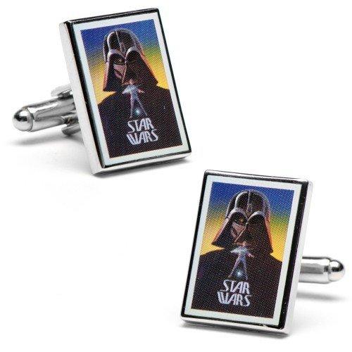 Gemelolandia | Boutons de Manchette Star Wars Darth Vader Movie Poster Cufflinks | Pour Hommes et Garçons | Cadeaux Pour Mariages, Communions, Baptême