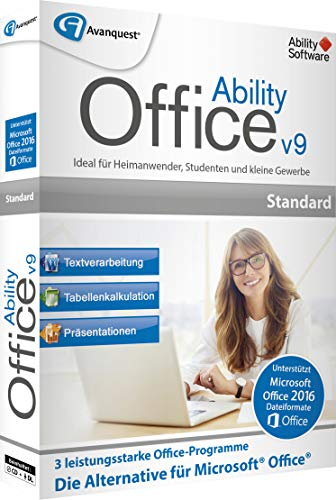 Avanquest Ability Office 9 Versione Completa, 1 Licenza Windows Office-Paket