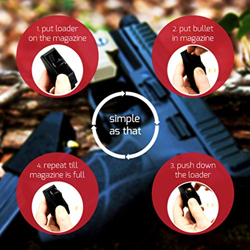 RAEIND Universal Magazine Speedloaders for Double Stack Magazines with Different Calibers Including 32 auto, 9mm, 22TCM.357 SIG.380 ACP, 10mm Auto.40 S&W.45GAP speedloader (RAE-701)