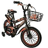 Zerimar Bicicletas Infantiles para niños y niñas | Bici con ruedines y Cesta | Bici niño | Bicicleta niños 16,18 y 20 Pulgadas | Bicicletas niños 3-8 años (18, gris-18)
