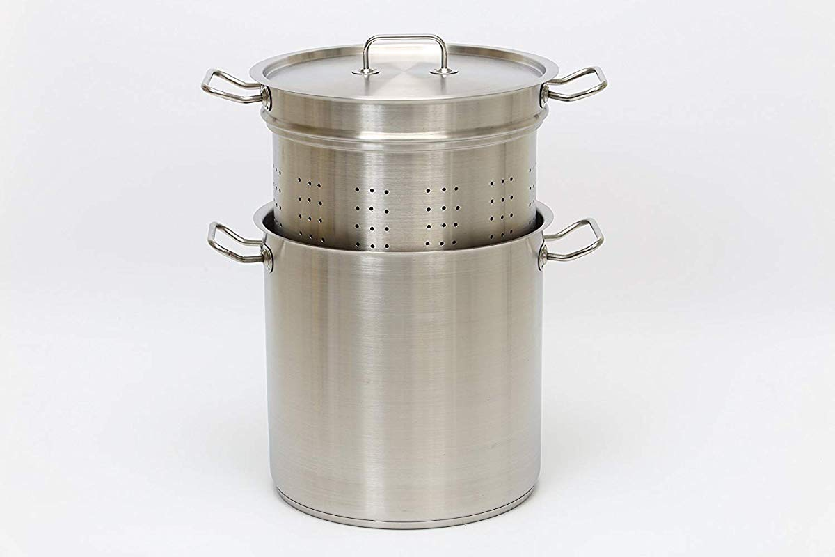 Heavy Duty Stainless Steel Professional Pasta Steamer Stock Pot 18 Quart Commercial Cookware