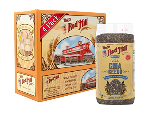 Bob's Red Mill Chia Seeds, 16-ounce (Pack of 4) (Package May Vary)
