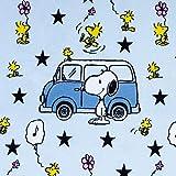 Baumwolljersey Lizenzstoff Peanuts Snoopy & Minivan