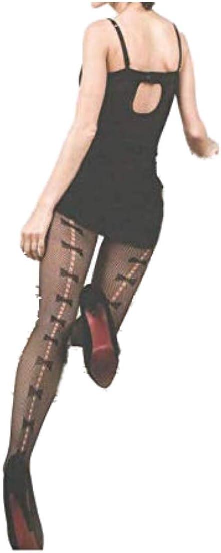Killer Legs Plus Size Fishnet Pantyhose Bow Tie Backseam 168YD044Q Queen Black Yelete