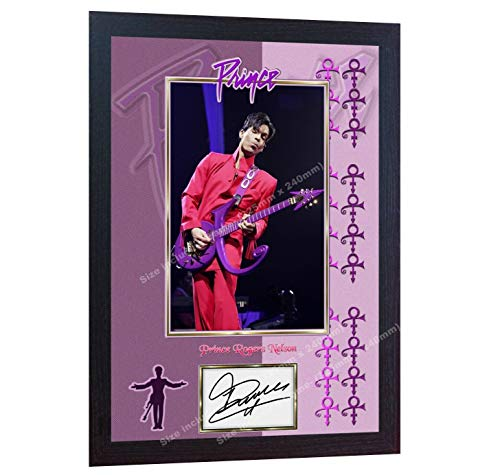 PRINCE Rogers Nelson signed autograph photo print Purple Rain album rock Framed