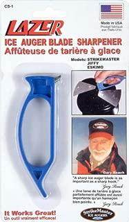 sharpening hand ice auger blades