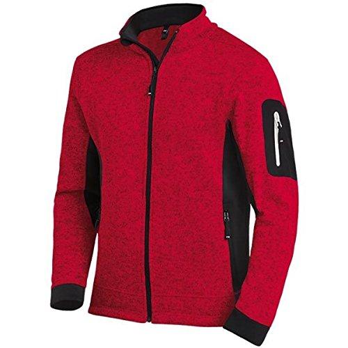 FHB Strickfleece Jacke atmungsaktiv, Farbe:rot, Größe:M