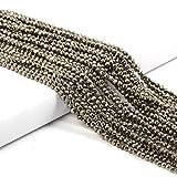 Cuentas pequeñas Cuentas de piedras preciosas de piedra natural 2 3 4 mm Sección Cuentas sueltas para hacer joyas Collar DIY Pulsera 38cm, Calcopirita, 4mm