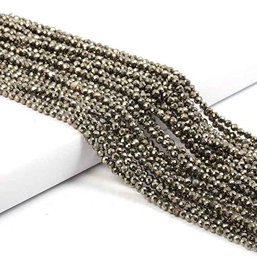 Cuentas pequeñas Cuentas de gemas de piedra natural 2 3 4 mm Sección Cuentas sueltas para hacer joyas Collar DIY Pulsera 38cm, Calcopirita, 3mm