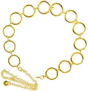 Circle Gold Chain Link Belt For Women Fashionable Classic Design