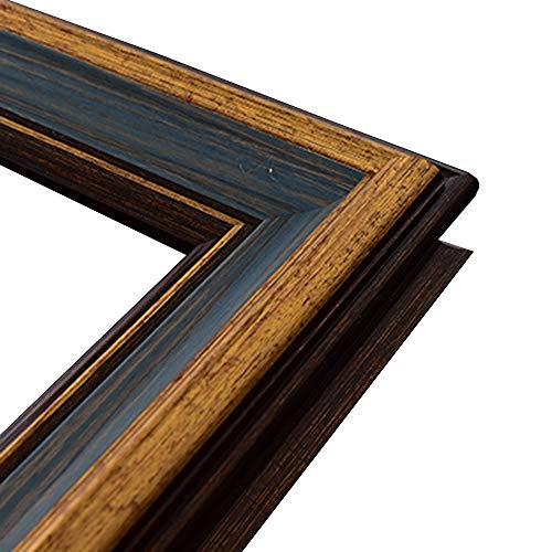 Fotolijst Buitenste Decoratieve Foto Wandmontage Retro Olieverfschilderij Apart Geschikt Voor Schilder Tentoonstellingsruimte 30x40cm(Color:Vintage blauwe gouden rand)