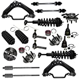 Detroit Axle - 18PC Front Ready-Struts + Wheel Hub & Bearings + Upper Control Arms w/Ball Joint, Tie Rods, Sway Bars and Boots Kit for 2002-2005 Ford Explorer/Mercury Mountaineer 4.0L V6