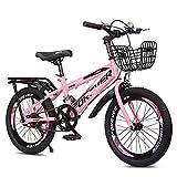 Axdwfd Infantiles Bicicletas 18-20 Pulgadas, Bicicleta Al Aire Libre para Niños, Niños Y Niñas De 7 A 14 Años, con Soporte, Tres Colores(Size:18in,Color:Rosa)