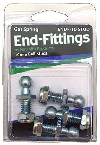 Hatchlift ENDF-10-STUD 10mm Ball Studs w/nyloc Nuts