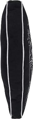 "Fennco Styles Coffin Shaped Halloween Decorative Throw Pillow 13"" W x 20"" L – Black Rectangular Cushion for Halloween"