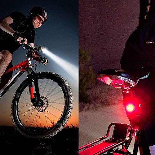 Marxways Superhelle LED-Leuchten Wasserdicht für Ihr Fahrrad - Einfach zu montierender Scheinwerfer und Rücklicht - Beste Beleuchtung für Vorder- und Hinterräder - Für alle Fahrräder
