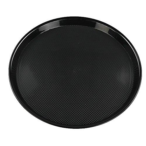 Ramddy Black Round Serving Trays, Set of 4