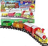 TOYLAND® - Juego de Tren de Navidad de 14 Piezas con Sonido y luz realistas - con Pilas - Carril de 330 cm - Juguetes navideños