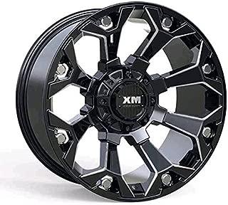 XTREME MUDDER XM-318 A0101 20X12-44 5X135+5X139.7 C.B 110 BLACK MILLING RIVETS