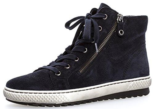 Gabor Damenschuhe 73.754.17 Damen Sneaker, Schnürer, Schnürhalbschuhe, mit Reißverschluss, in Übergrößen, mit OPTIFIT- Wechselfußbett, 36 EU, Dunkelblau
