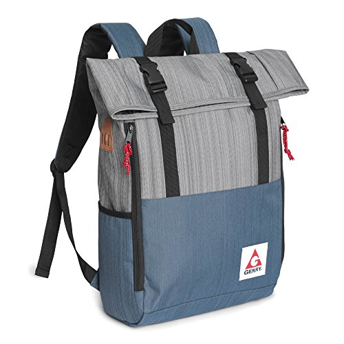 Gerry Outdoor - Chaffee Heathered Roll Top Backpack, Marine