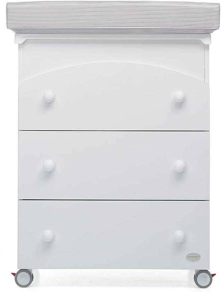 Foppapedretti patty fasciatoio bagnetto con bidoncino maialino, bianco 9900071310