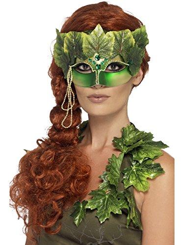 Smiffys Masque pour les Yeux Nymphe des Forêts, avec Feuilles en Tissu et Bijoux
