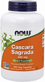 NOW Supplements, Cascara Sagrada (Rhamnus purshiana)450 mg, 250 Veg Capsules