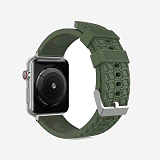 AhaStyle Tire Texture Premium Silicone Apple Watch Band 44mm (GREEN)