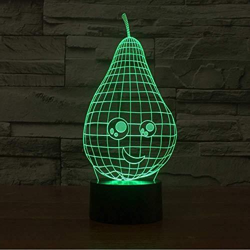 3D Illusion Nachtlicht Bluetooth Smart Control 7 & 16M Farbe Mobile App Led Vision Schöne Birnenform Tisch Schreibtisch Kinder Nachtschlaf Cartoon Figur Dekor bunt Kreatives Geschenk