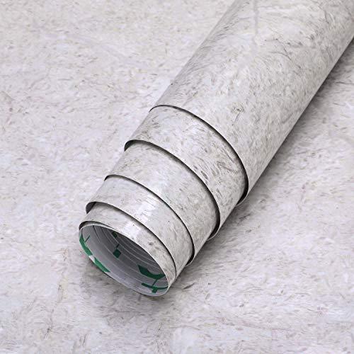 LC&TEAM Marmorfolie Klebefolie Matt Küchefolie selbstklebend Küchenrückwand Folie - 61 x 500 cm aus PVC Folie ohne Geruch, wasserfest, Kratzfest, geeignet für Wand, Küche, Möbel