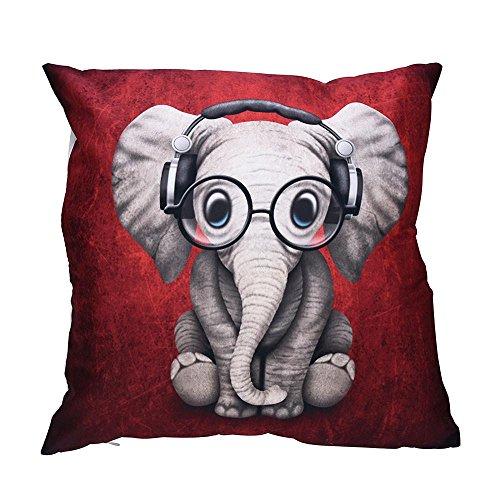 VJGOAL Encantador Animal de impresión Funda de Almohada Suave comfoatable sofá Coche Cuadrado Funda de cojín decoración para el hogar extraíble y Lavable(45_x_45_cm,Multicolor8)