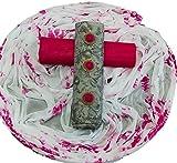 HARIKRISHNA FASHION Women's Cotton Unstitched Dress Material (Pink, Free Size)