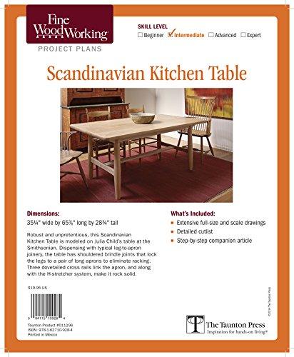 Fine Woodworking's Scandinavian Kitchen Table Plan (Fine Woodworking Project Plans)
