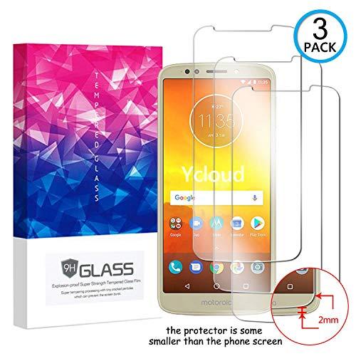 Ycloud [3 Pack] Panzerglas Bildschirmschutzfolie für Motorola Moto E5,Hartglas Staubdichter, 9H kratzfester Bildschirmschutz Protector für Motorola Moto E5