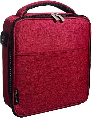 Upper Order Lunch Tasche, Picknick Tasche Lunch Bag Thermotasche Klein lunchpaket Kühltasche Mini klein Isoliertasche für Arbeit Rot
