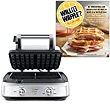 Breville BWM604BSS Smart Waffle Maker Bundle with'Will It Waffle? 53 Unexpected and Irresistible Recipes to Make in a Waffle Iron' Cookbook - Stainless Steel