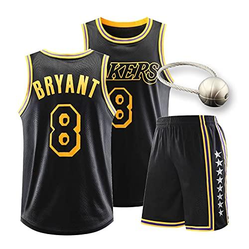 Laker Basketball - Conjunto de jersey para hombre, diseño de camiseta 8/24 #, 23 # Jerseys con llavero de baloncesto, malla bordada Swingman sin mangas camisetas 8 # -L