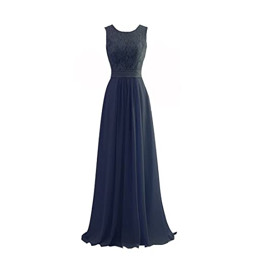 0b73761518f9 JinXuanYa® Lace Long Chiffon Evening Prom Party Bridesmaid Dresses (12,  Coral)