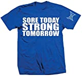 TapouT Sore Today Strong Tomorrow T-Shirt (XX-Large, Blue)