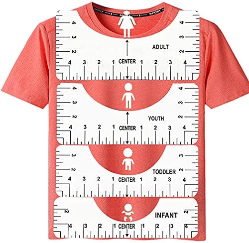 Carbcolords T-Shirt-Ausrichtungslineal mit Hilfswerkzeug für die Herstellung von modischem Zentrum, T-Shirt-Lineal, Ausrichtung für Erwachsene, Jugendliche, Kleinkinder, Kleinkinder