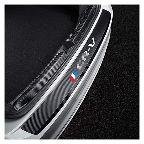 ZLLD Protectores de parachoques auto parachoques trasero pegatinas de cuero para fibra de carbono Protector de maletero de coche placa película para Honda CRV coche parachoques protector coche styling