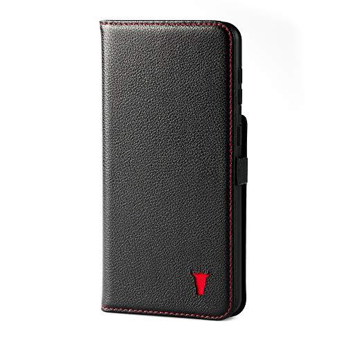 TORRO Handyhülle Kompatibel Mit Samsung Galaxy S21 Ultra - Hochwertige Lederhülle Mit Kartenfächern Und Horizontale Standfunktion [Strapazierfähiger Rahmen] (Schwarz)